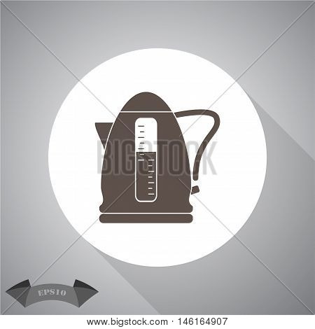 Electrical Kettle Icon. Vector icon for web and mobile