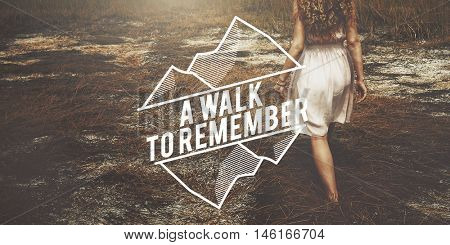 Walk Remember Information Memory Recalling Concept