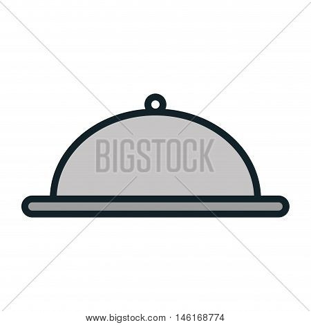 platter restaurant metal waiter plate service catering vector illustration