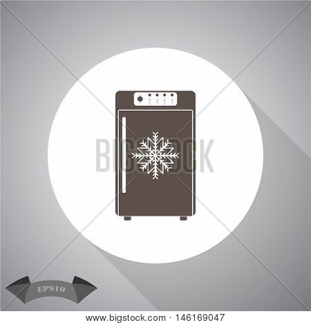 Freezer  Vector icon for web and mobile