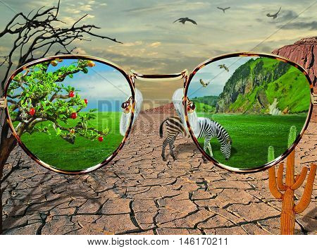 Yuo see the world through rose-colored glasses.
