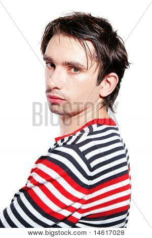 Young Caucasian Man Isolated On White Background