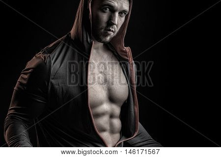 Man In Jacket With Hood