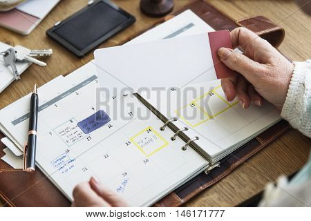 Appointment Checklist Planning Personal Organizer Concept