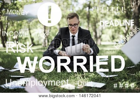 Worried Stress Problem Exam Job Concept