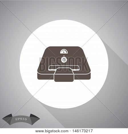 sandwich maker flat  Vector icon for web and mobile