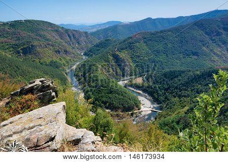 Meander of Arda River, dam Kardzhali, Bulgaria