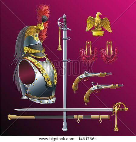 Napoleonic cuirassiers armament.