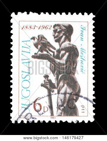 YUGOSLAVIA - CIRCA 1983 : Cancelled postage stamp printed by Yugoslavia, that shows sculpture by Ivan Mestrovic.