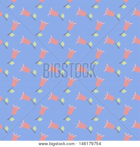 Tiny cute flower floral vector pattern background