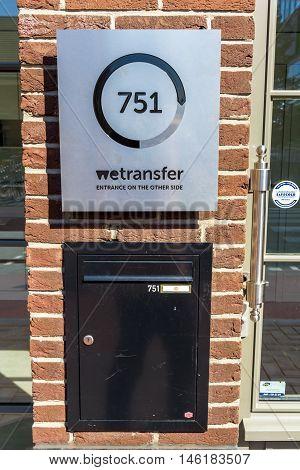 Amsterdam the Netherlands - September 07 2016: Wetransfer headquarters
