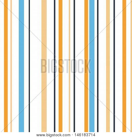 Blue Yellow Grey & White Striped Background. Isolated vector illustration seamless pattern with colorful stripes.