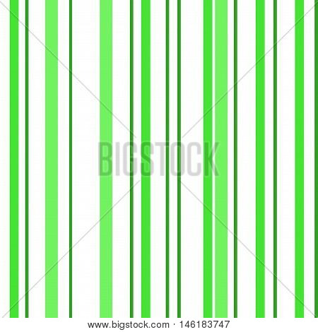 Green & White Striped Background. Isolated vector illustration seamless pattern with green stripes.