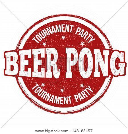 Beer Pong Stamp
