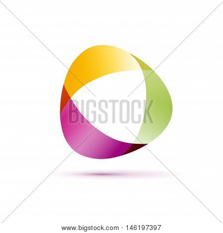 Vector sign abstract shape, illustration on white background