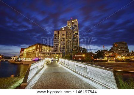 Beautiful Hotel With Bridge