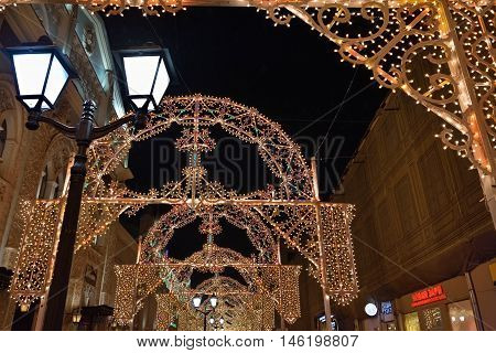 Moscow Winter Christmas Decoration, Russia