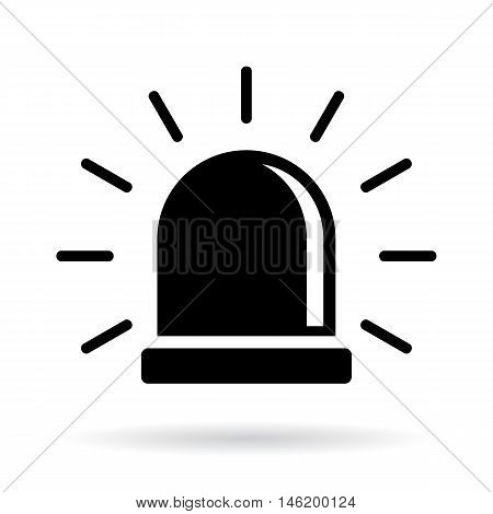 Alarm siren icon vector illustration isolated on white background