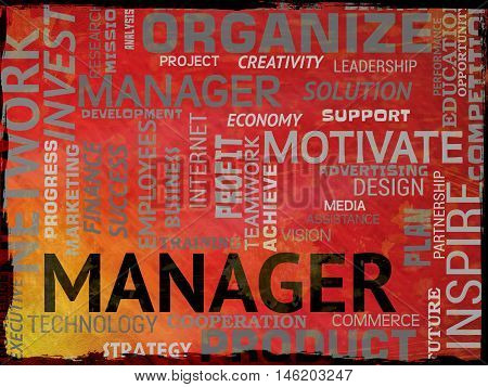 Manager Words Indicates Supervisor Boss And Administrator