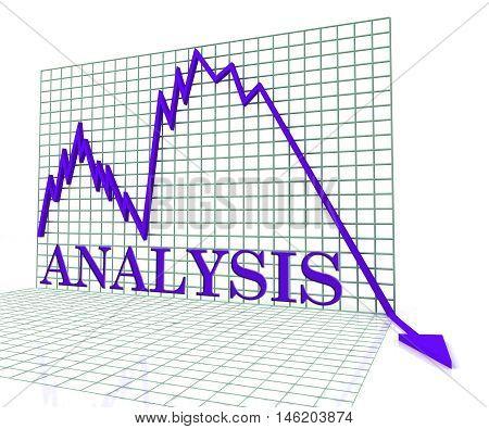 Analysis Graph Negative Means Analytics Downturn 3D Rendering