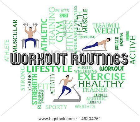 Workout Routines Show Physical Activity And Aerobics