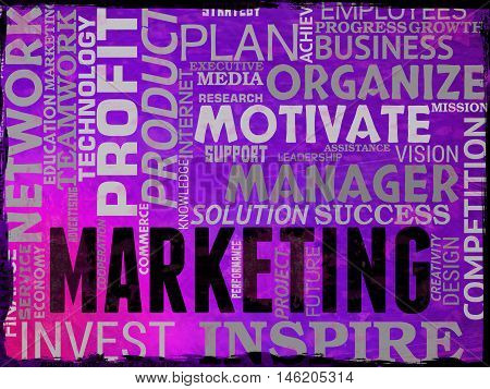 Marketing Words Shows Promotions Seo And Sem