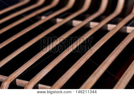 Abstract wooden parallel decorative lines as interior