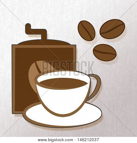 Brewed Coffee Represents Cafe Beverage And Cafeteria