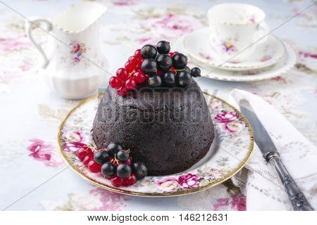 Australien Plum Pudding on Plate