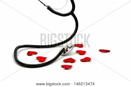 medical instrument stethoscope black, manometer, diagnostic, medicine