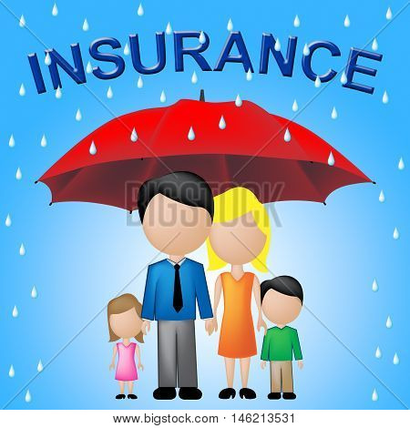 Family Insurance Shows Household Policy And Cover