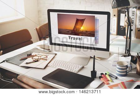 Destination Voyage Explore Journey Recreation Concept