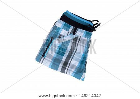 New shorts made of cloth isolated on white background