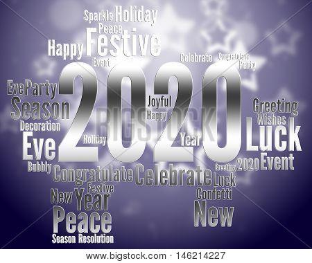 Two Thosand Twenty Year Indicates 2020 Party Celebration