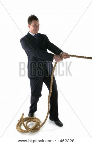 ManPulling Rope