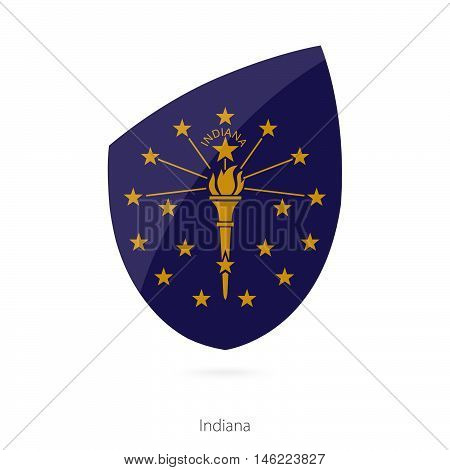 Flag of Indiana in the style of Rugby icon. Vector Illustration.