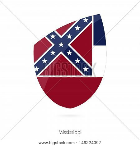 Flag of Mississippi in the style of Rugby icon. Vector Illustration.