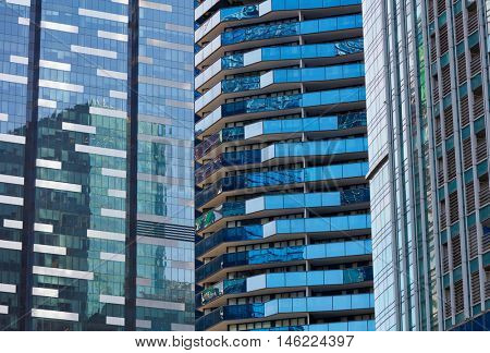 Office buildings background