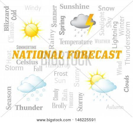 National Forecast Shows Meteorological Conditions For The Country