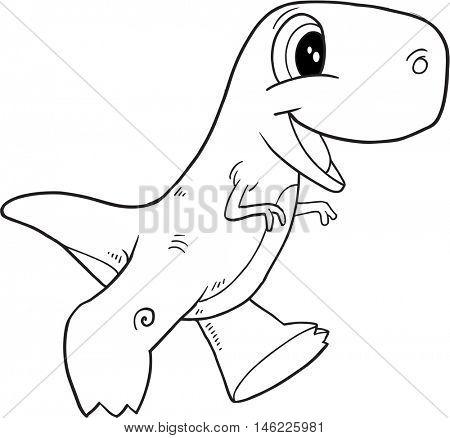 Doodle Dinosaur Vector Illustration Art
