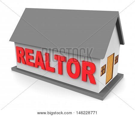 Realtor House Shows Estate Agents 3D Rendering