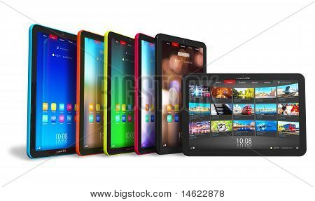 Set van Tablet PC 's