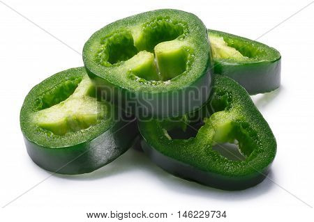 Pile Of Sliced Green Jalapeno, Paths