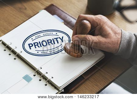 Priority Importance Tasks Urgency Effectivily Focus Concept