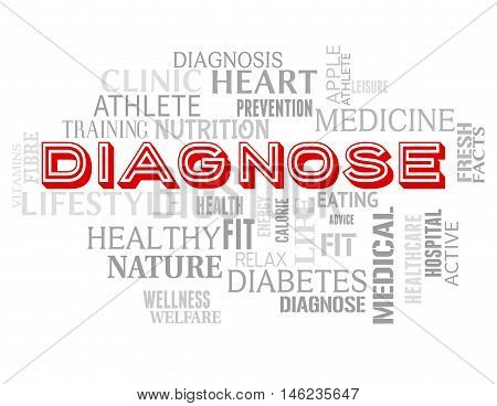 Diagnose Words Represents Illness Examination And Diagnosing