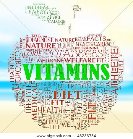 Vitamins Apple Represents Nutritional Supplements And Health