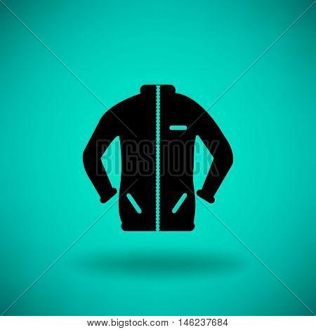 Flat icon. Sport jacket.