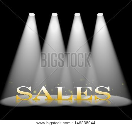 Sales Spotlight Represents Purchases Promotion And Selling