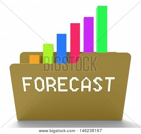 Forecast File Represents Prediction Graph 3D Rendering