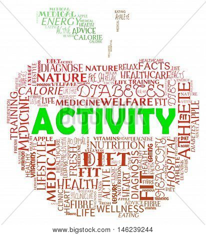 Activity Apple Indicates Getting Fit And Being Active